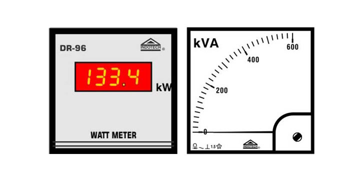KVA, KVAR, KW & KWH LCD Meter