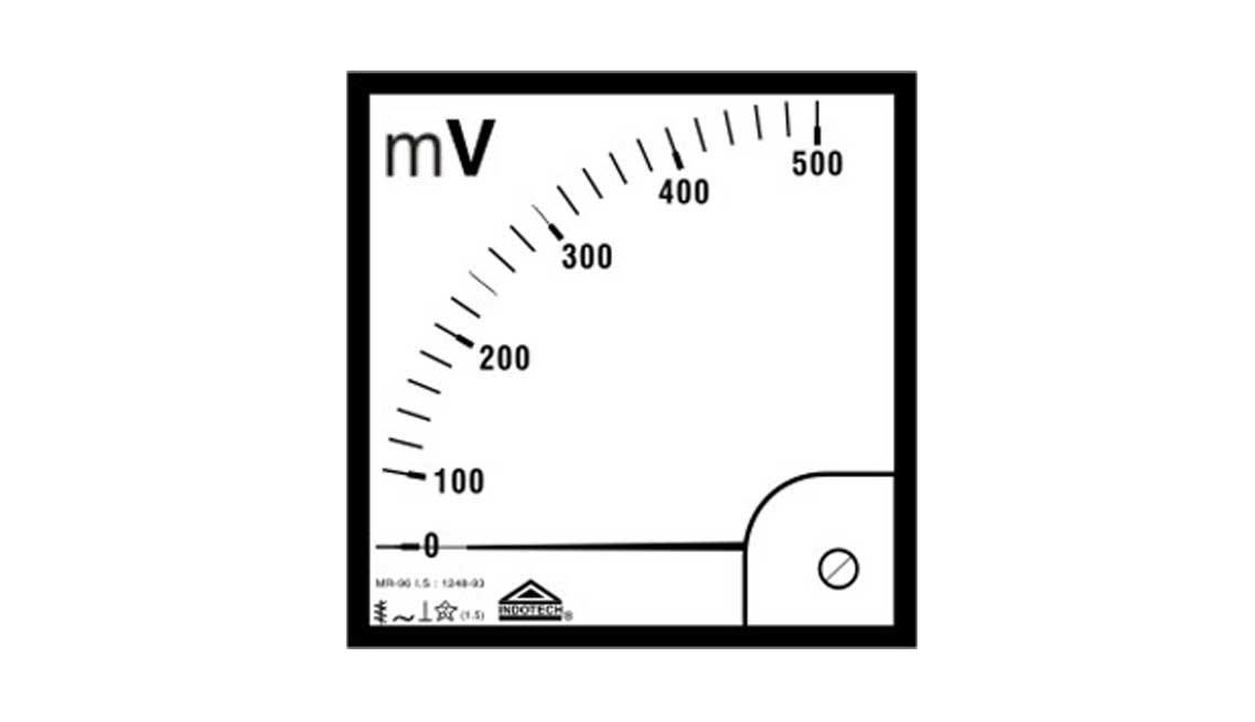 indotech analog milli voltmeter