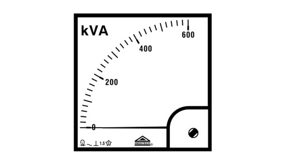 indotech kva analog meter