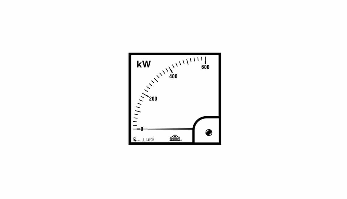 Indotech Analog Watt Meter, Analog Watt Meter