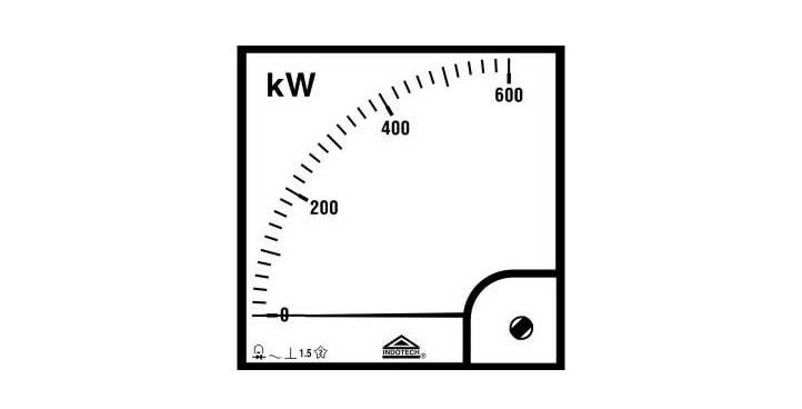 Indotech Analog KW Meter