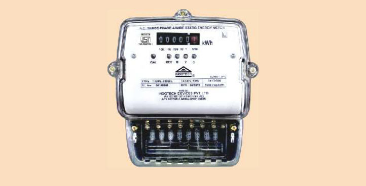 Analog Electric Energy Meter Three Phase