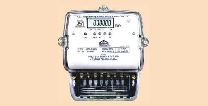 three phase lcd type energy meter, energy meter three phase lcd type